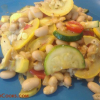 Summer Squash Saute with White Beans