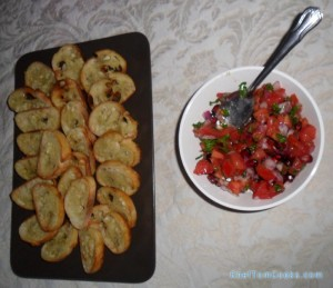 Pomegranate Bruschetta