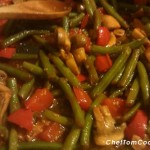Hot & Spicy Green Bean, Pepper & Mushroom Saute