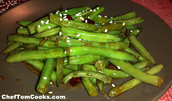 green bean stir fry