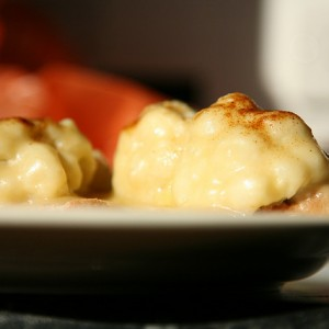 Cauliflower with Homemade Cheese Sauce